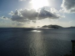 Jost van Dyke in the BVI taken just before sunset by Anna Kinnersly